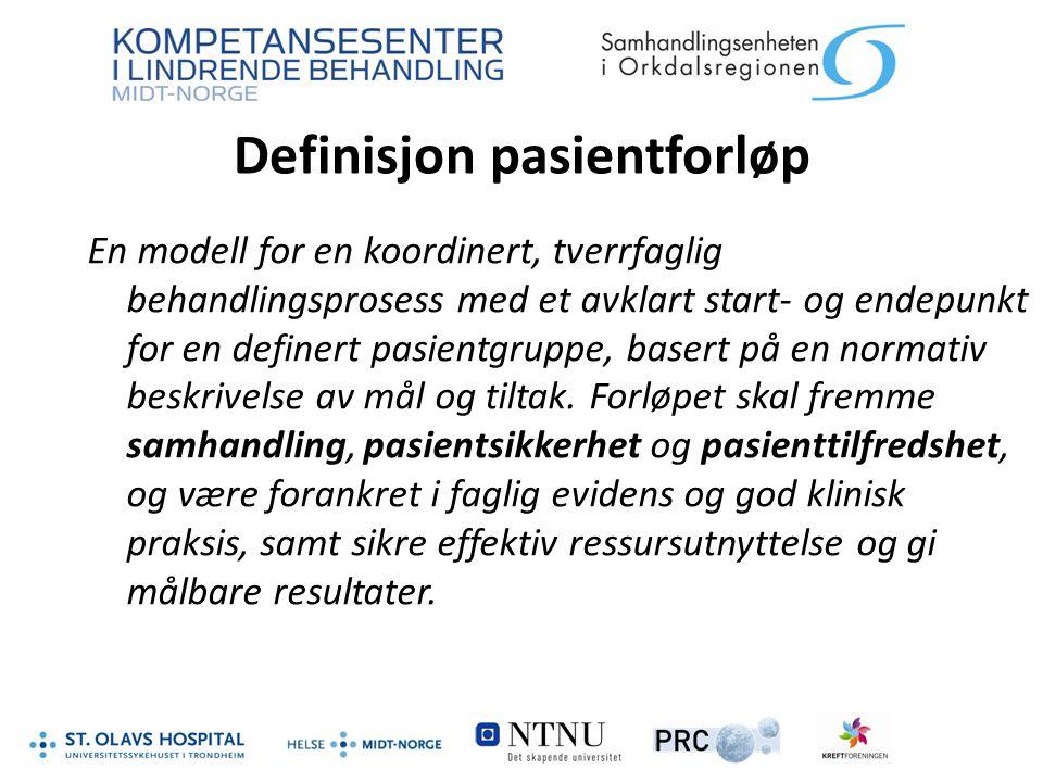 Definisjon pasientforløp