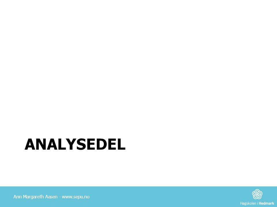analysedel Ann Margareth Aasen - www.sepu.no