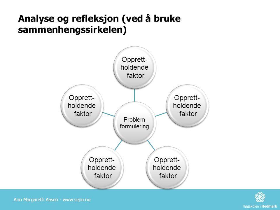 Analyse og refleksjon (ved å bruke sammenhengssirkelen)