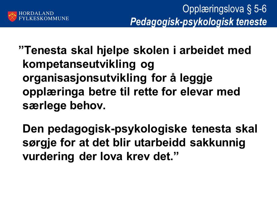Opplæringslova § 5-6 Pedagogisk-psykologisk teneste