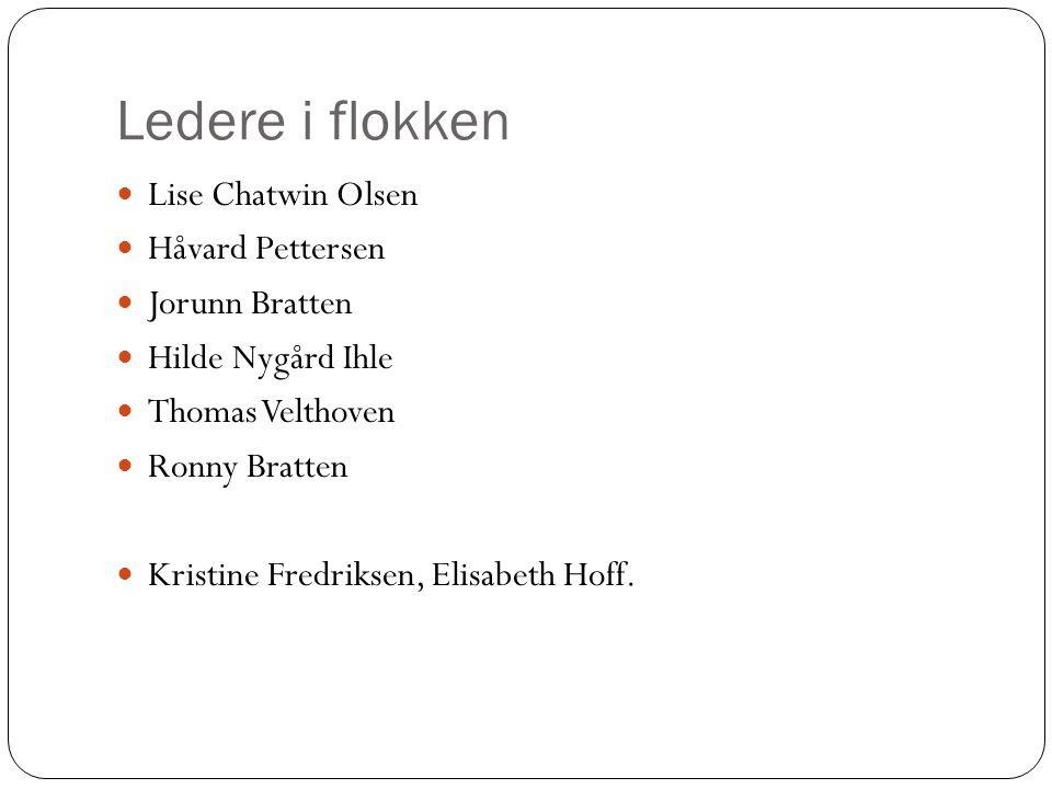 Ledere i flokken Lise Chatwin Olsen Håvard Pettersen Jorunn Bratten