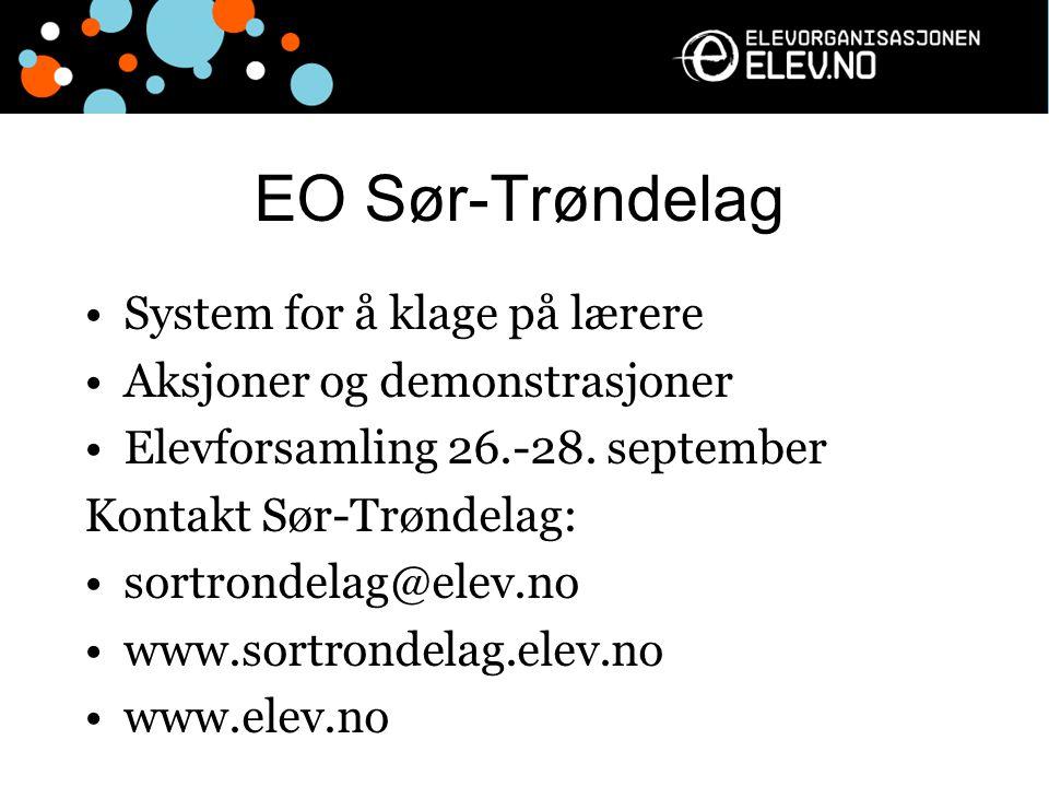 EO Sør-Trøndelag System for å klage på lærere