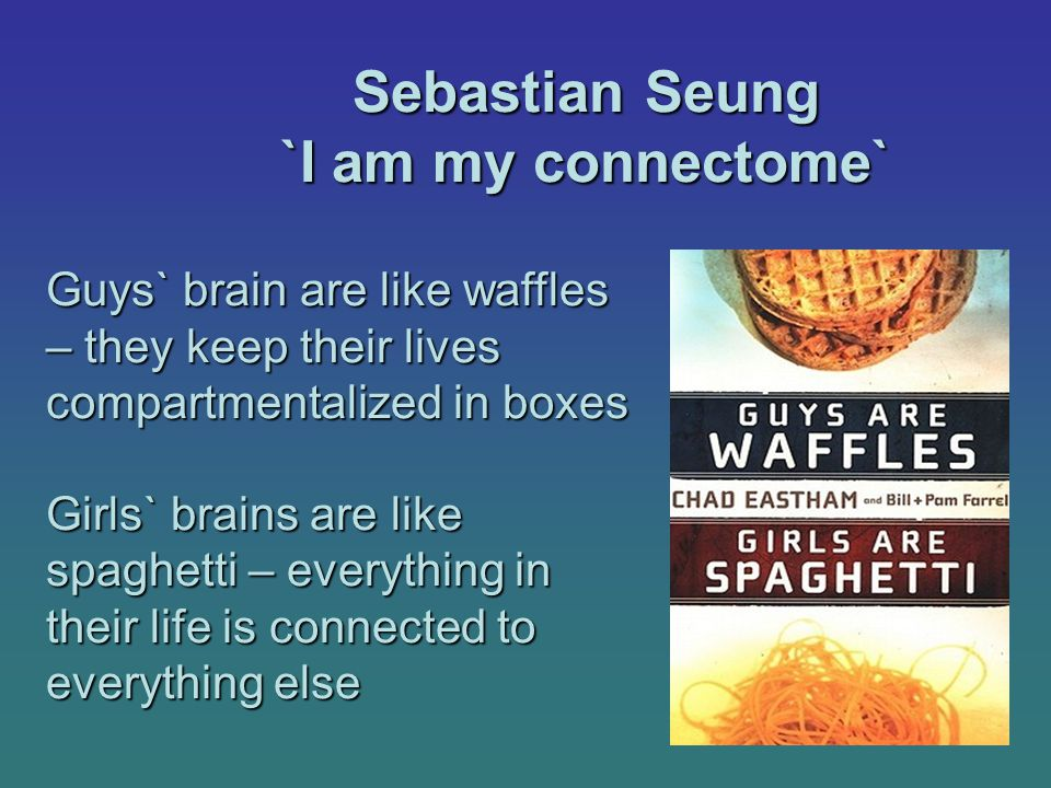 Sebastian Seung `I am my connectome`
