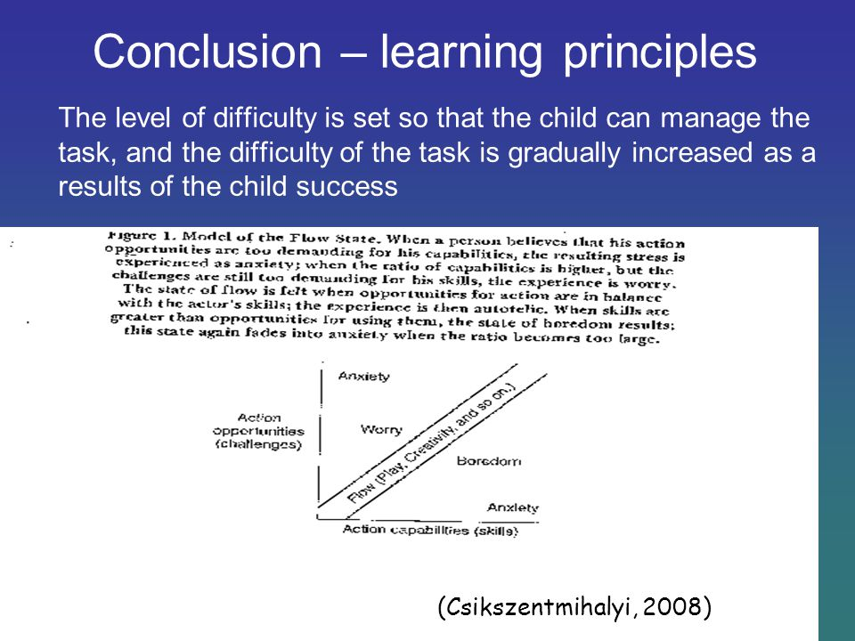 Conclusion – learning principles