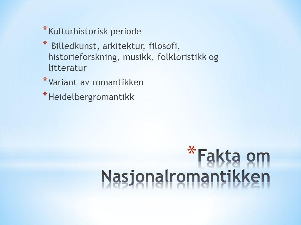 Fakta om Nasjonalromantikken