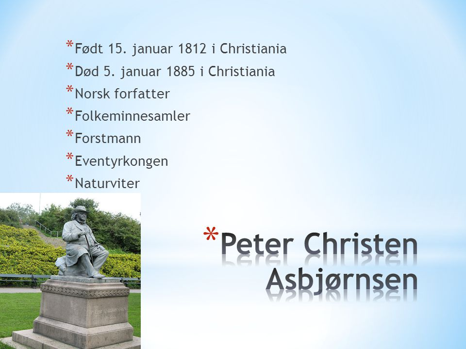 Peter Christen Asbjørnsen