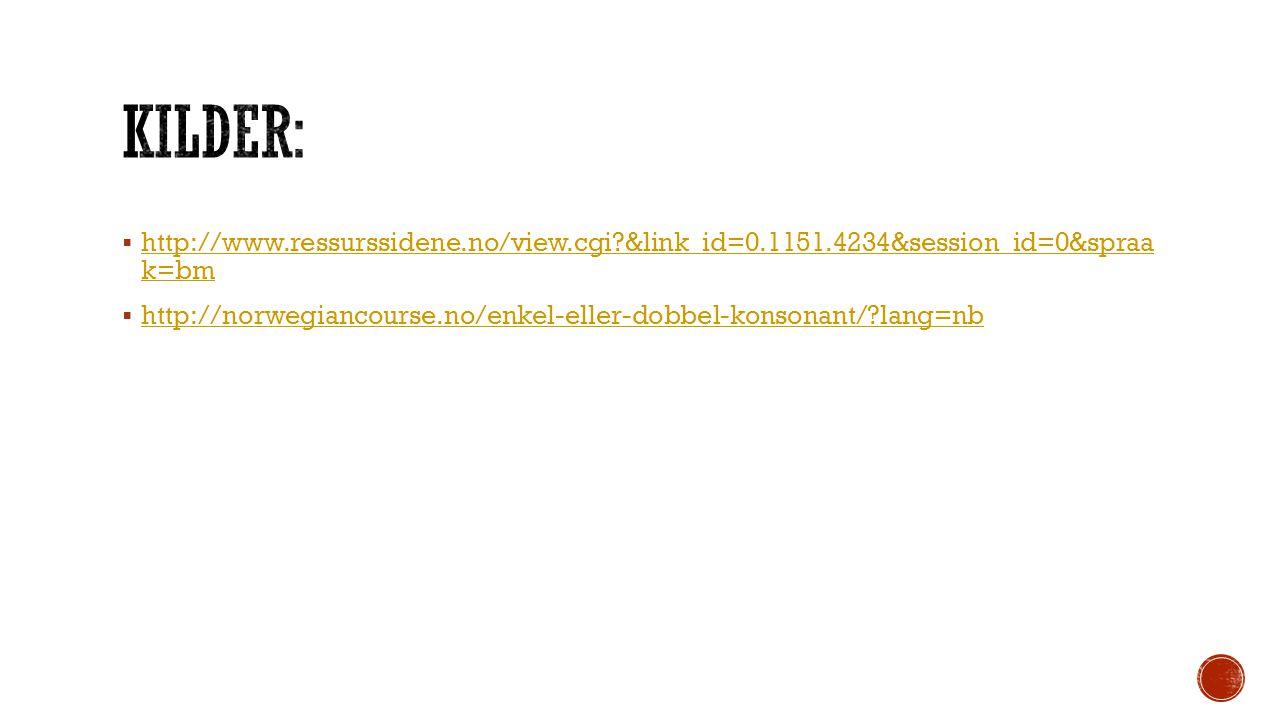 KILDER: http://www.ressurssidene.no/view.cgi &link_id=0.1151.4234&session_id=0&spraa k=bm.