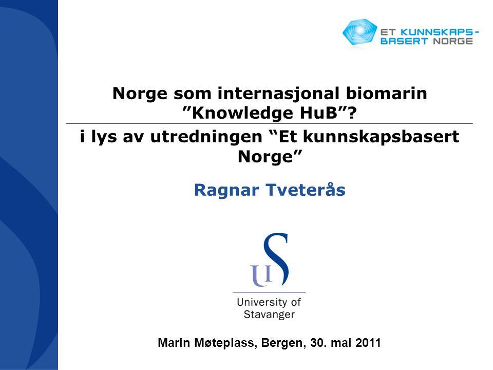 Norge som internasjonal biomarin Knowledge HuB