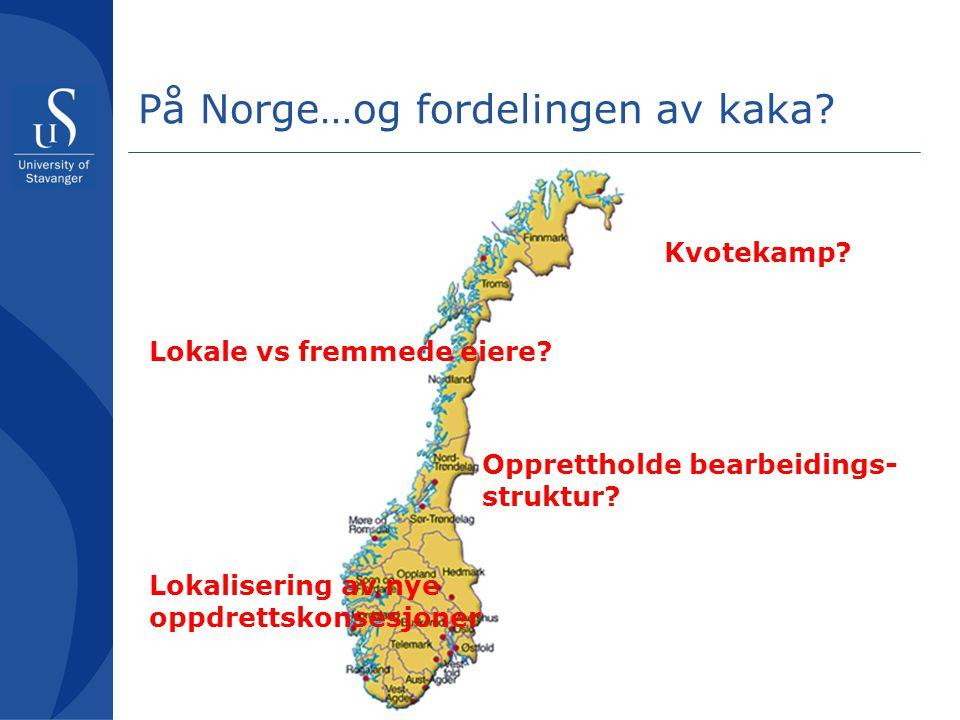På Norge…og fordelingen av kaka