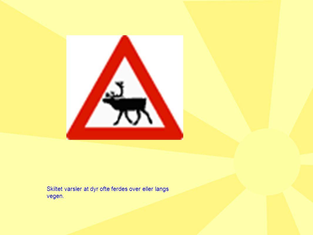 Skiltet varsler at dyr ofte ferdes over eller langs vegen.