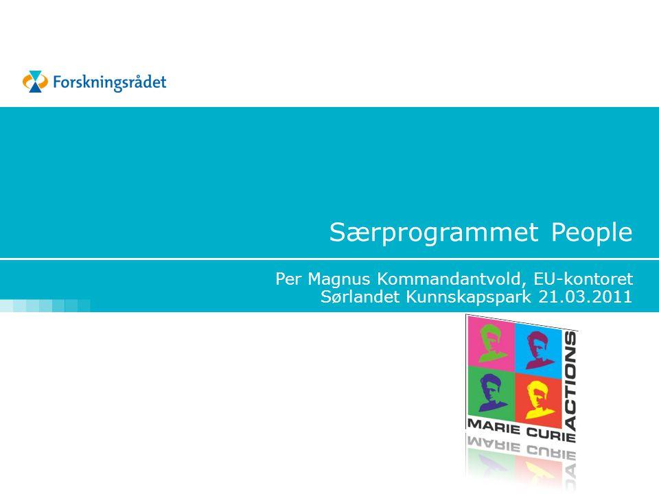 Særprogrammet People Per Magnus Kommandantvold, EU-kontoret