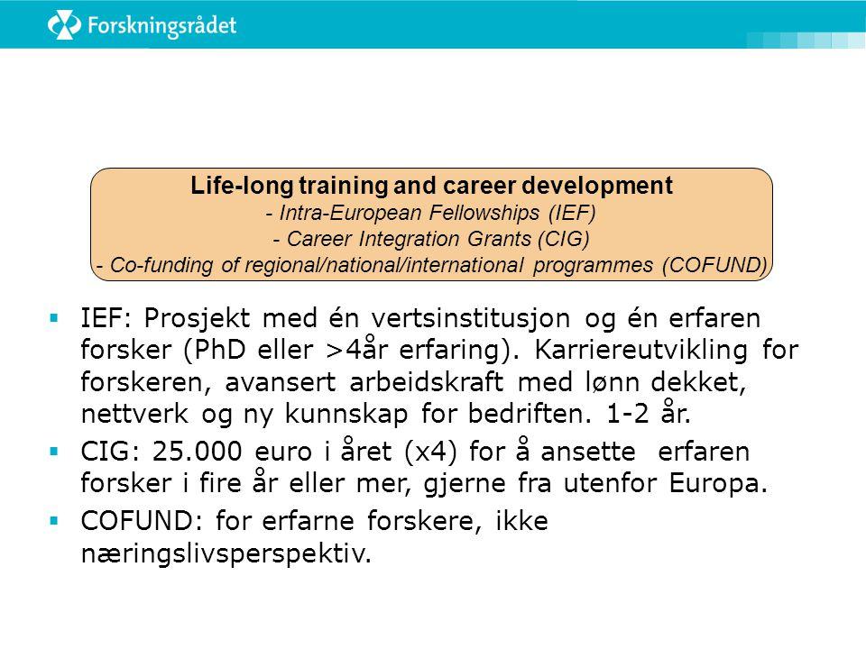 Life-long training and career development