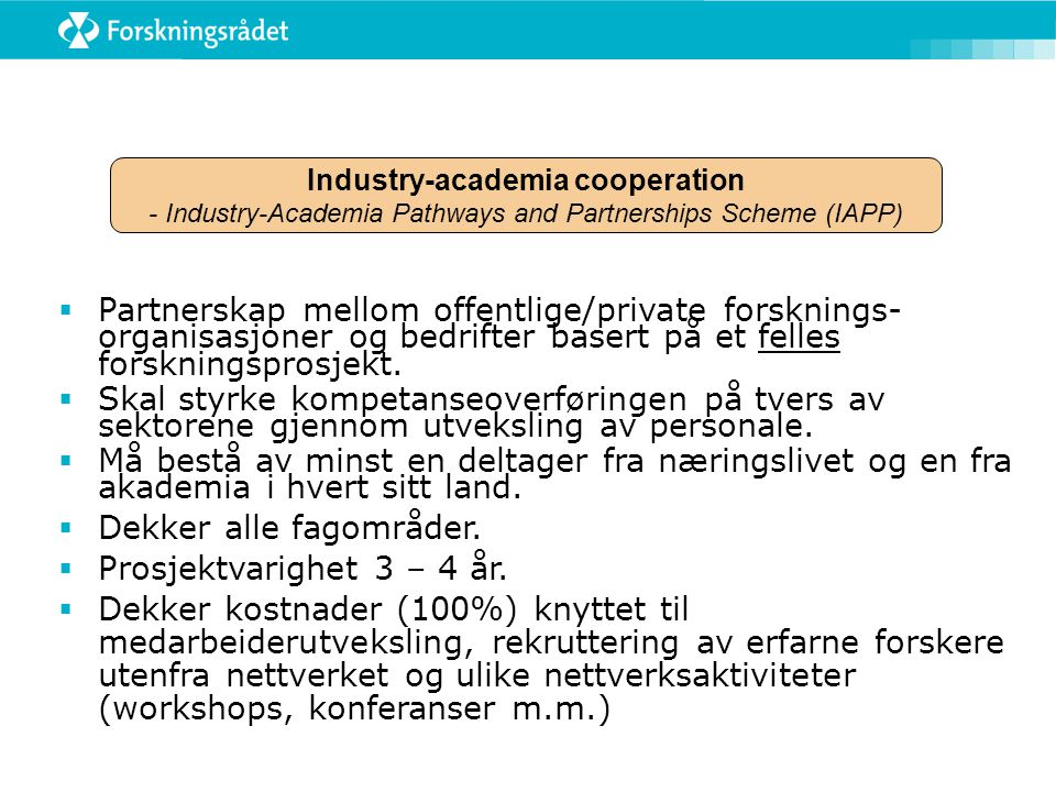 Industry-academia cooperation