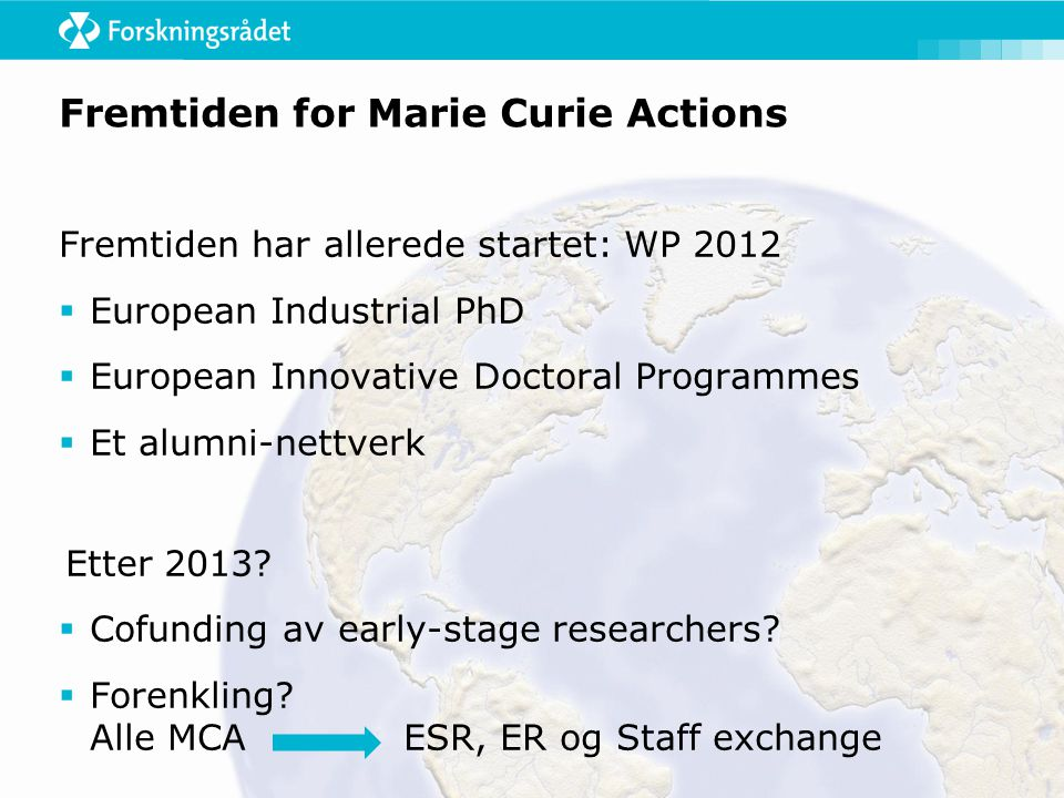 Fremtiden for Marie Curie Actions