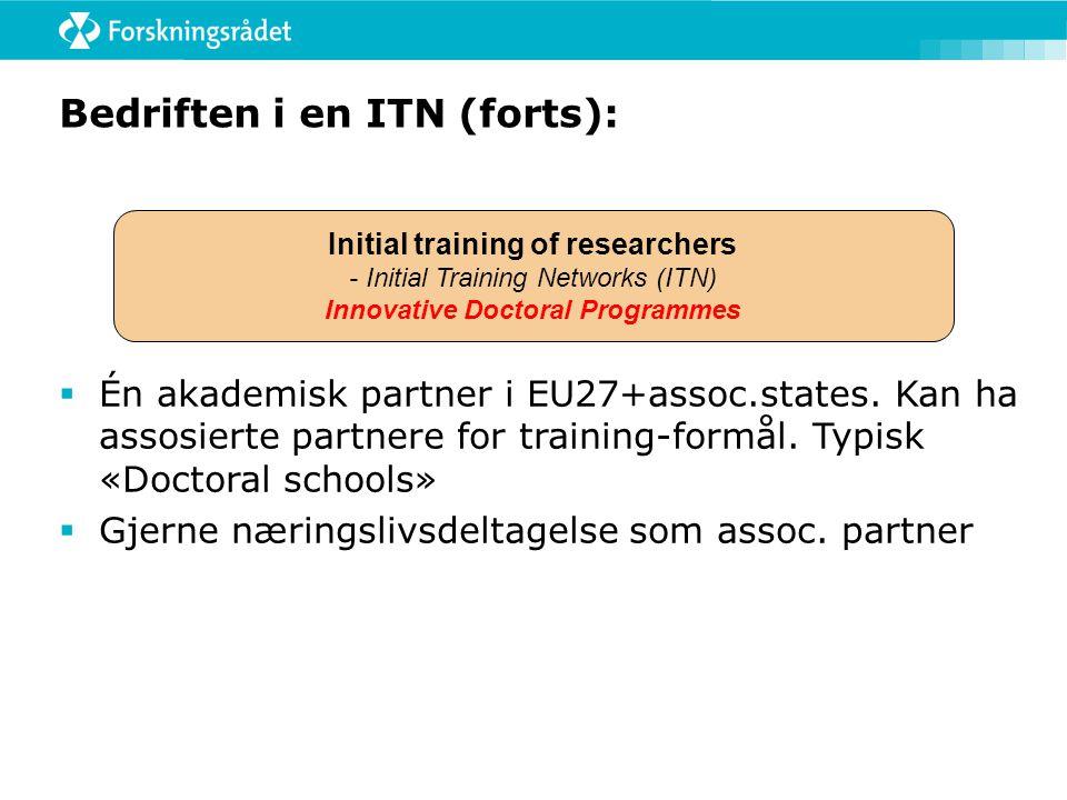 Bedriften i en ITN (forts):