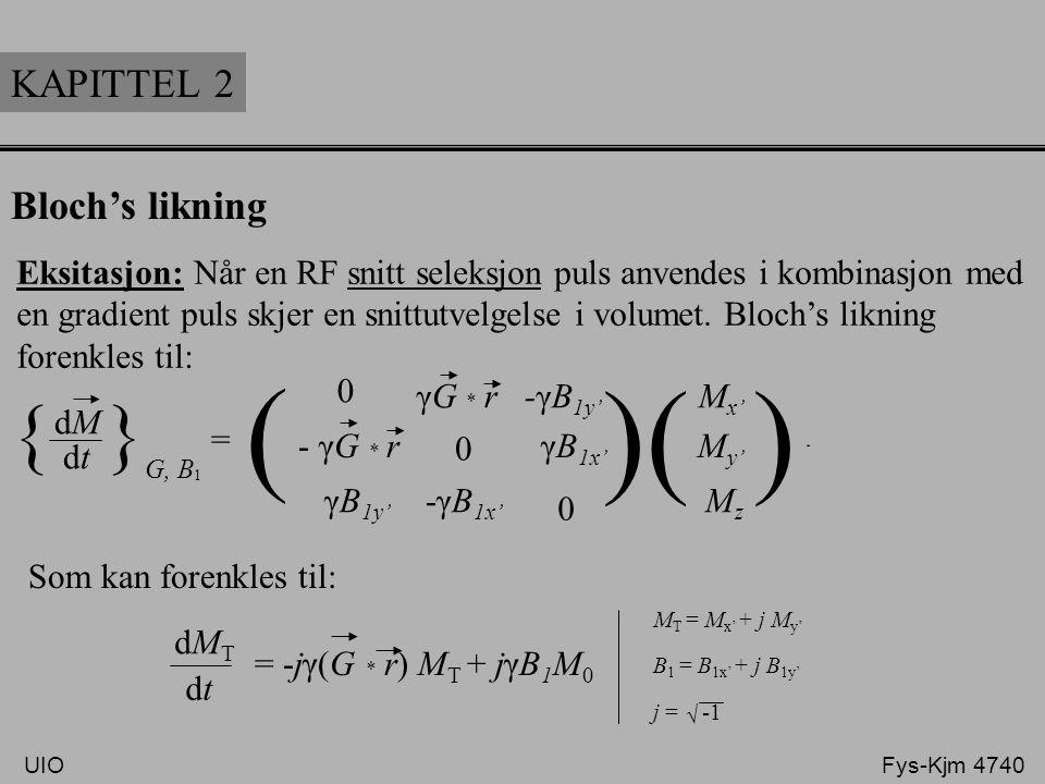 ( ) ( ) ( ) { }G, B1 KAPITTEL 2 Bloch's likning