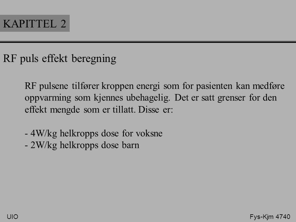 RF puls effekt beregning