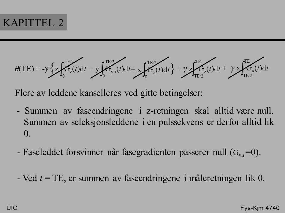 ∫ KAPITTEL 2 Flere av leddene kanselleres ved gitte betingelser: