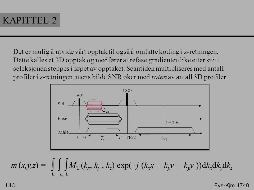 KAPITTEL 2 Det er mulig å utvide vårt opptak til også å omfatte koding i z-retningen.