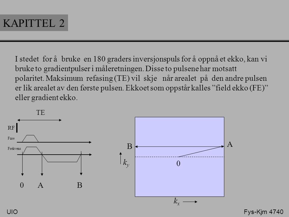 KAPITTEL 2 I stedet for å bruke en 180 graders inversjonspuls for å oppnå et ekko, kan vi.