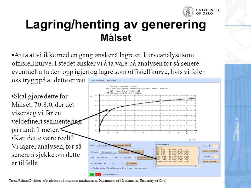 Lagring/henting av generering Målset