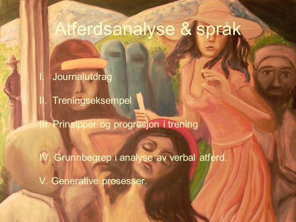 Atferdsanalyse & språk
