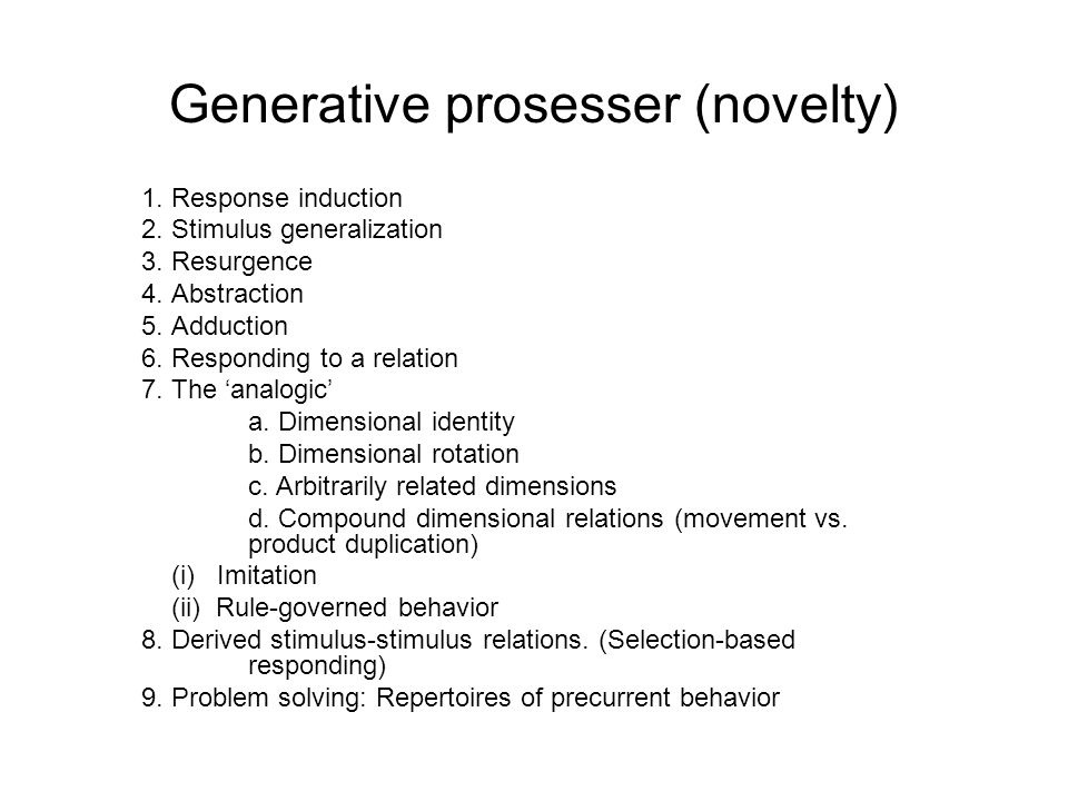 Generative prosesser (novelty)