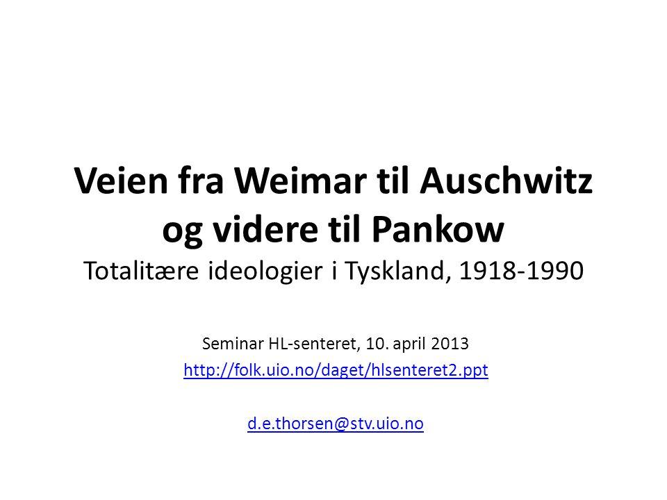 Seminar HL-senteret, 10. april 2013