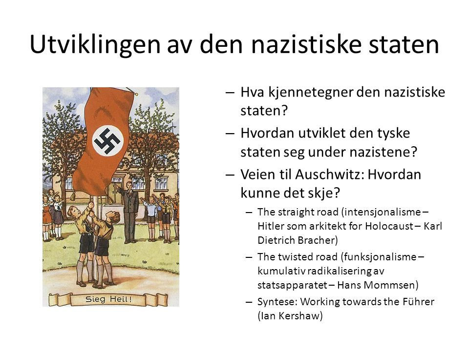 Utviklingen av den nazistiske staten