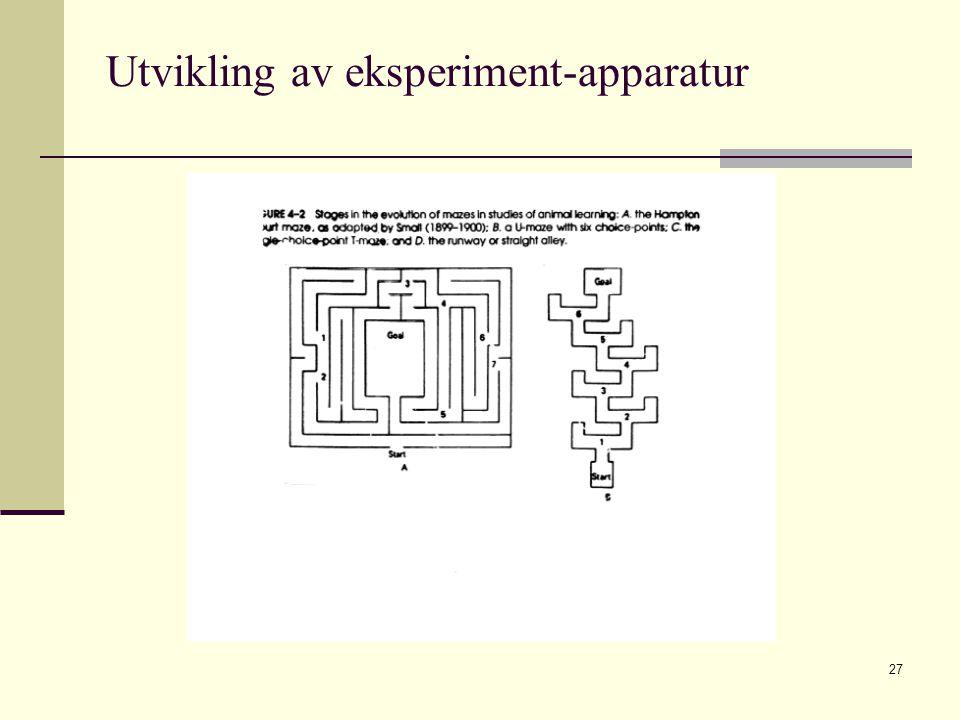 Utvikling av eksperiment-apparatur