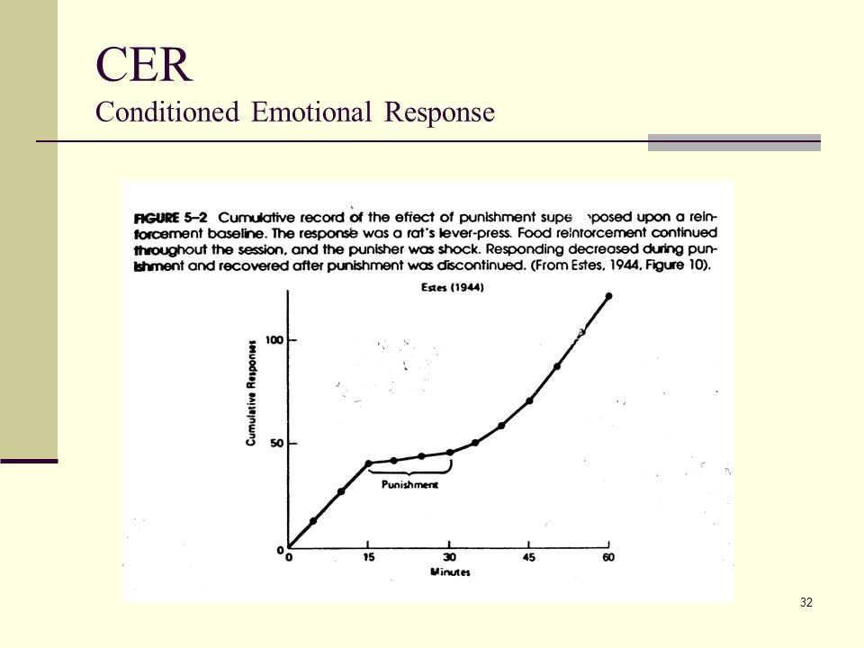 CER Conditioned Emotional Response