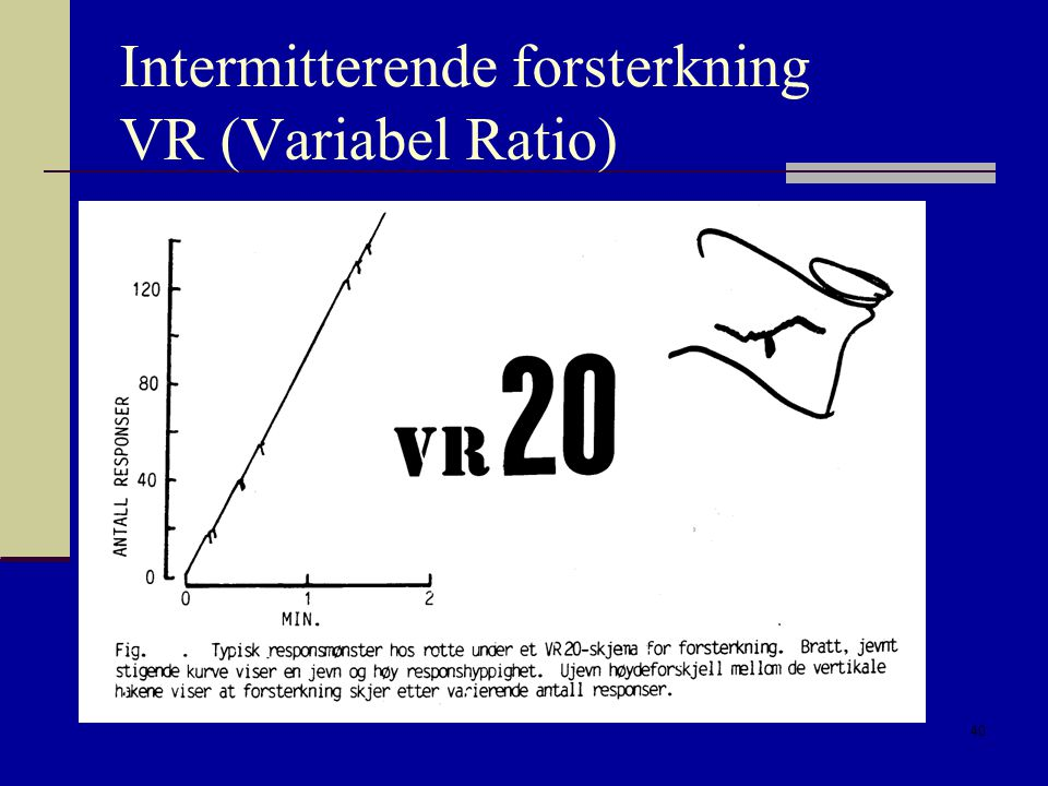 Intermitterende forsterkning VR (Variabel Ratio)