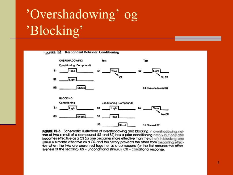 'Overshadowing' og 'Blocking'
