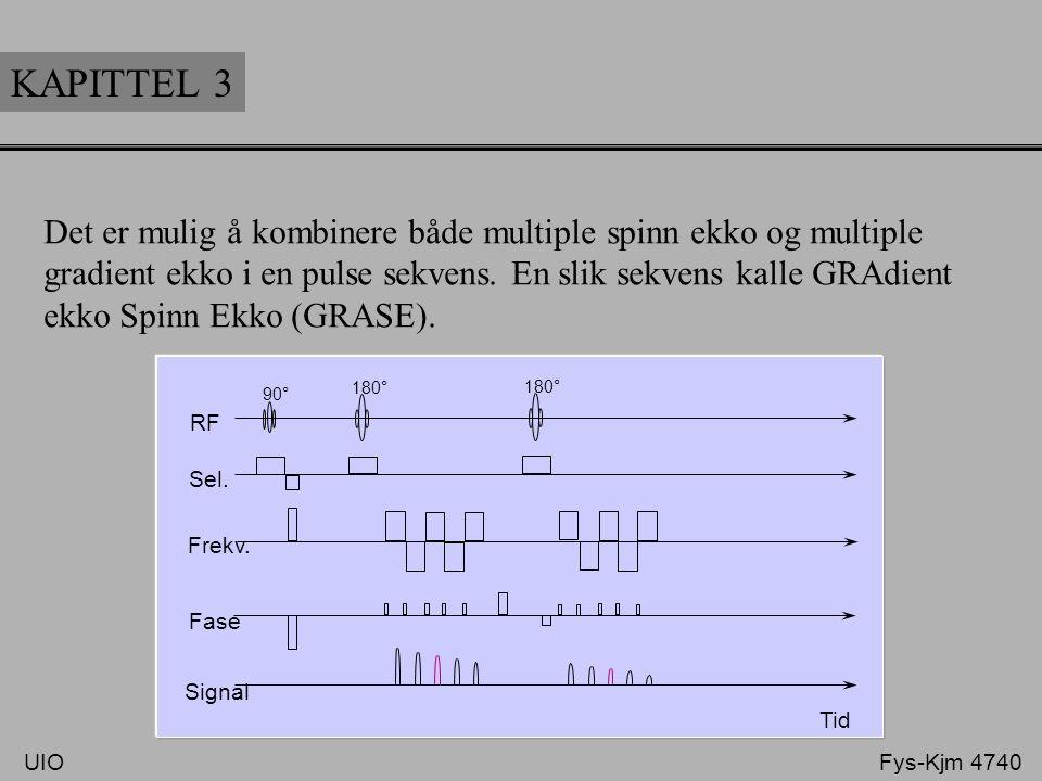 KAPITTEL 3 Det er mulig å kombinere både multiple spinn ekko og multiple. gradient ekko i en pulse sekvens. En slik sekvens kalle GRAdient.