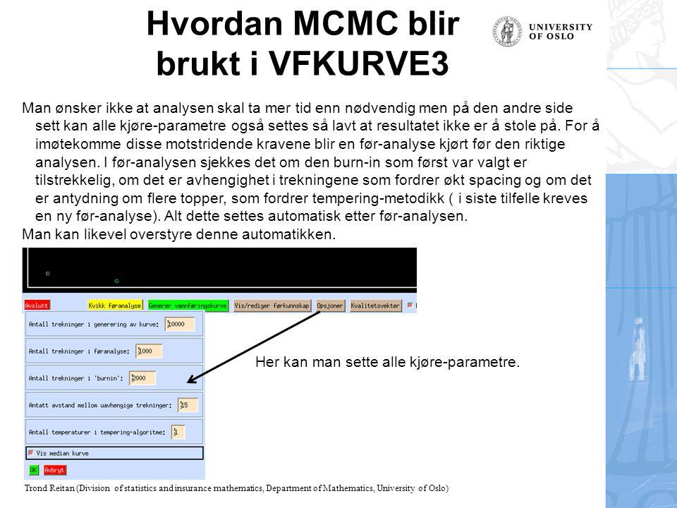 Hvordan MCMC blir brukt i VFKURVE3