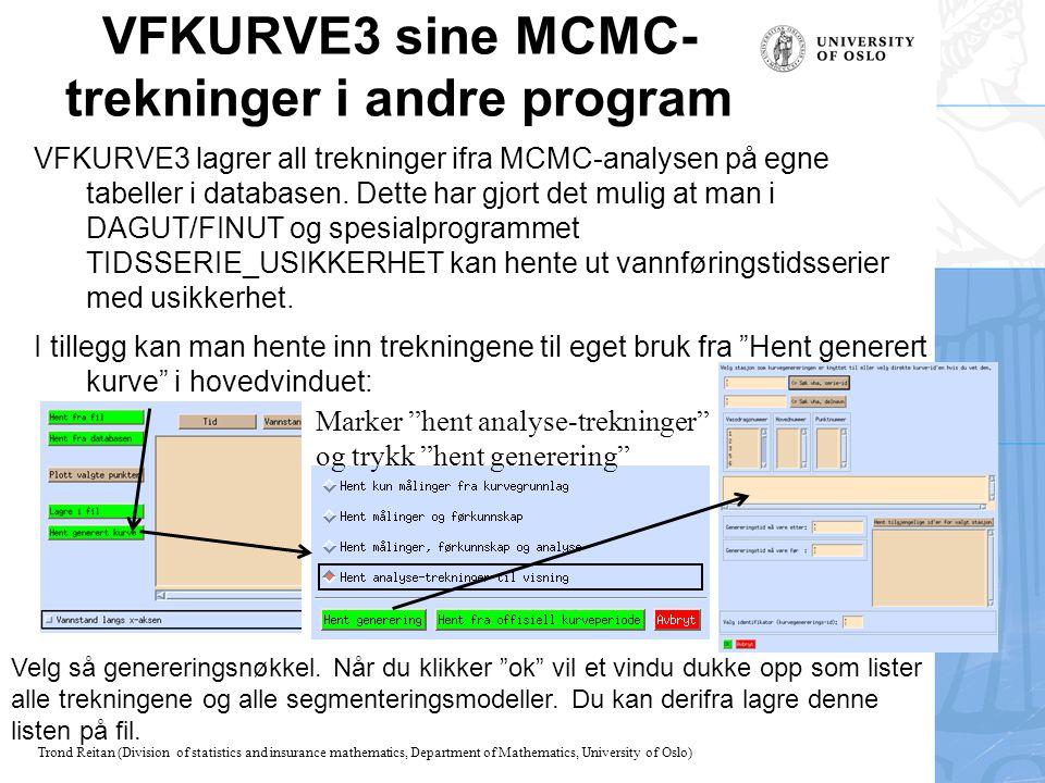 VFKURVE3 sine MCMC-trekninger i andre program