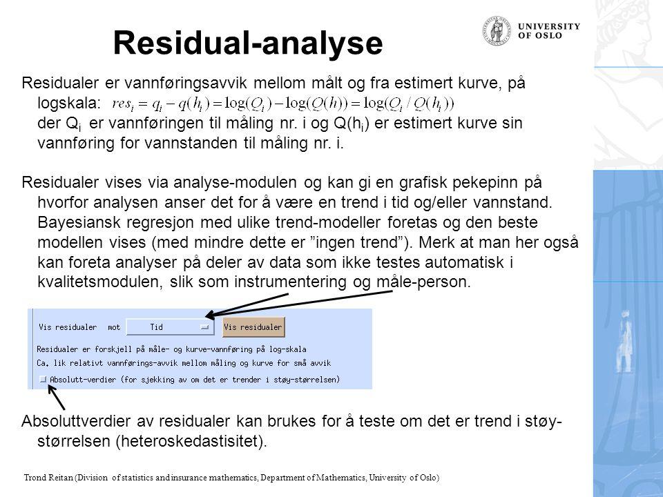 Residual-analyse
