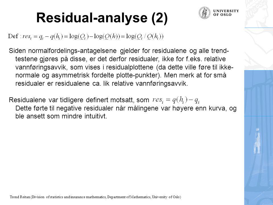 Residual-analyse (2)