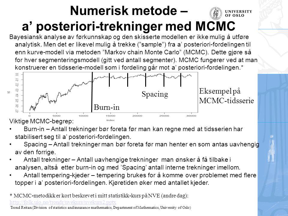 a' posteriori-trekninger med MCMC