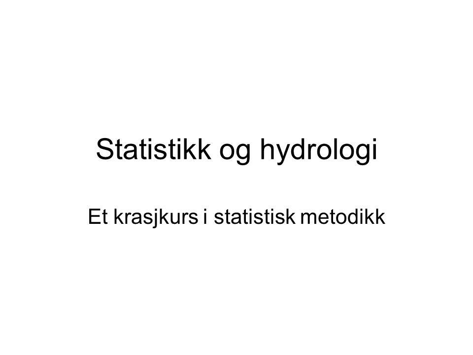 Statistikk og hydrologi