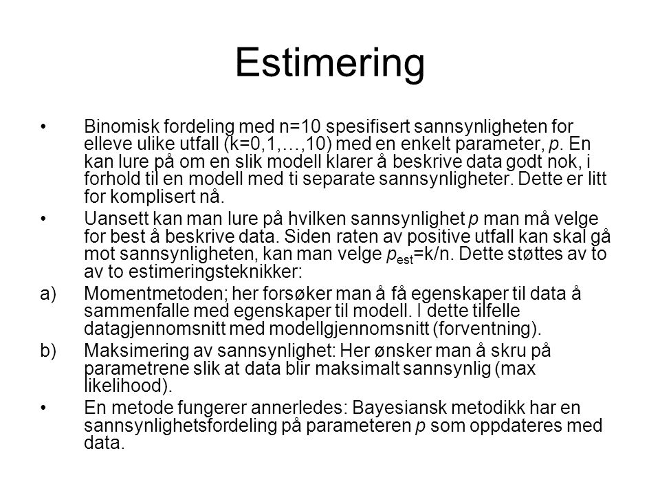Estimering