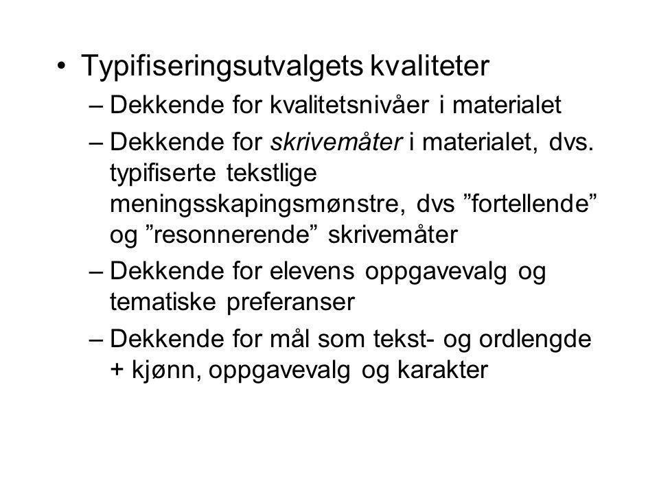 Typifiseringsutvalgets kvaliteter
