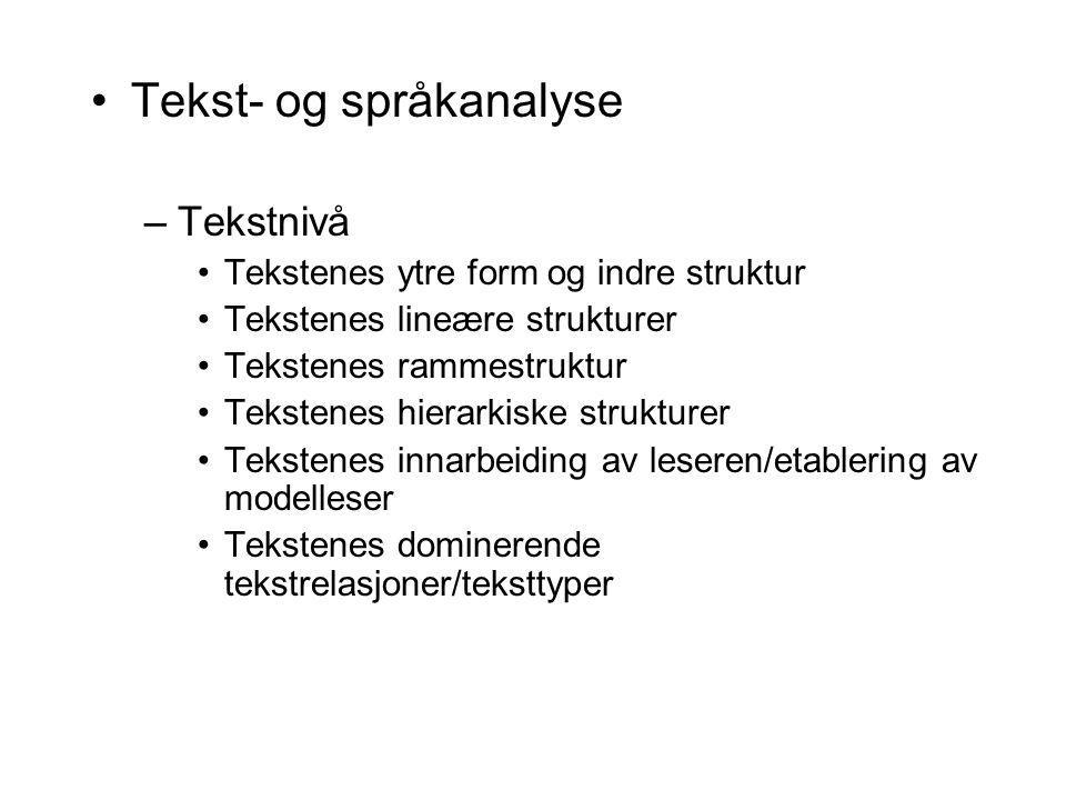 Tekst- og språkanalyse