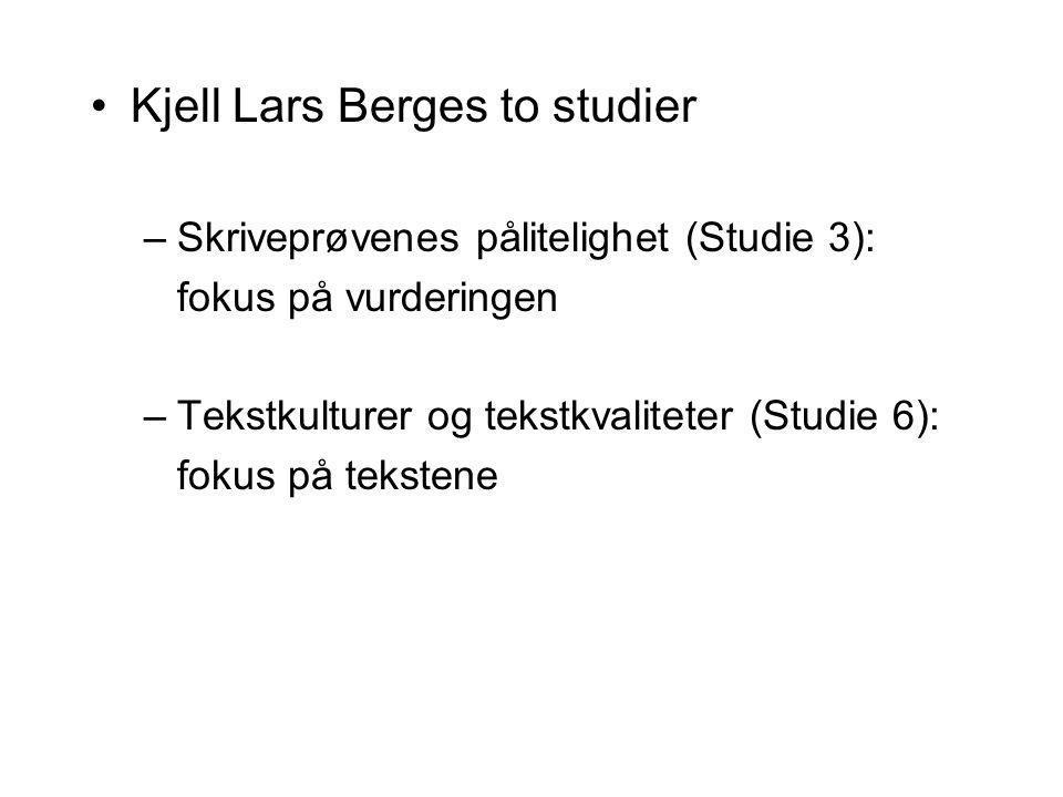 Kjell Lars Berges to studier