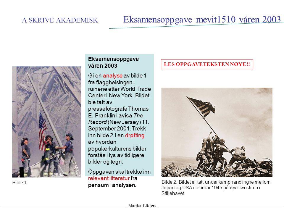 Eksamensoppgave mevit1510 våren 2003