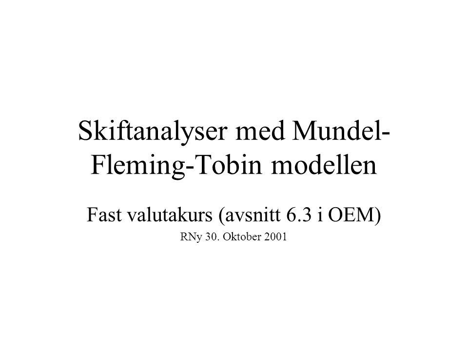 Skiftanalyser med Mundel-Fleming-Tobin modellen