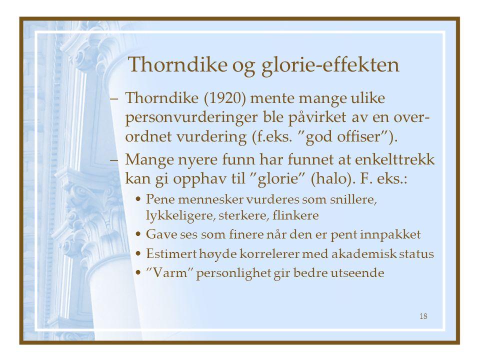 Thorndike og glorie-effekten