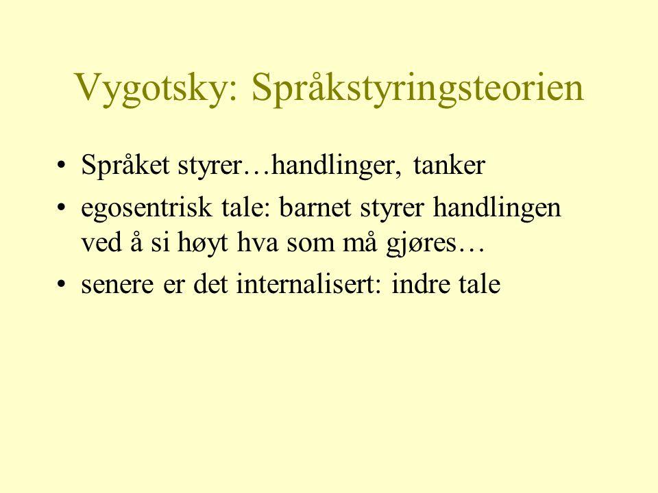 Vygotsky: Språkstyringsteorien