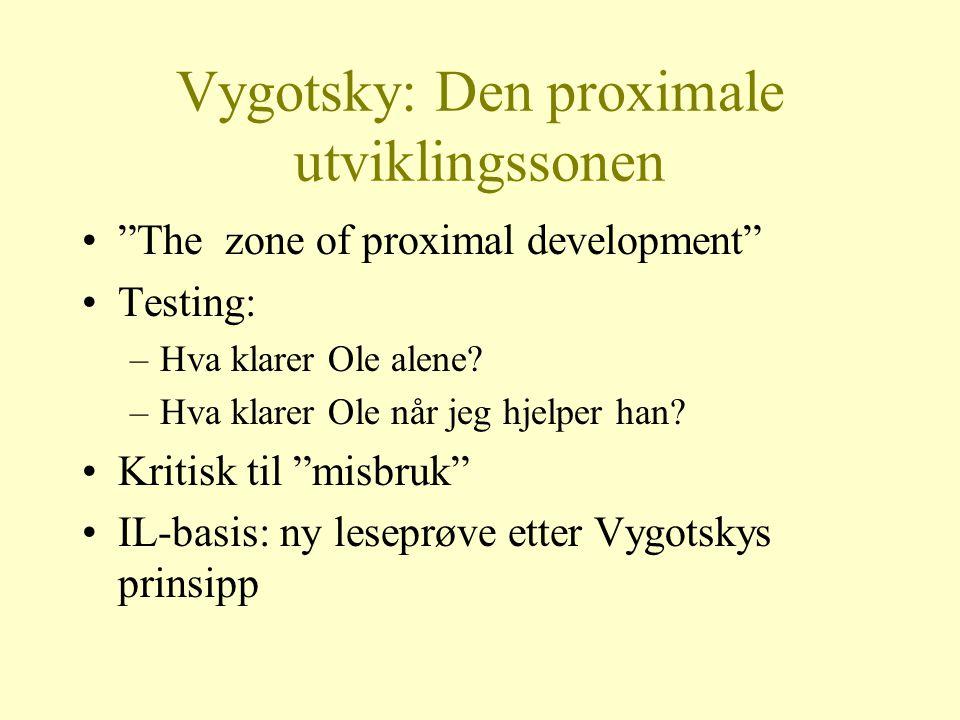 Vygotsky: Den proximale utviklingssonen