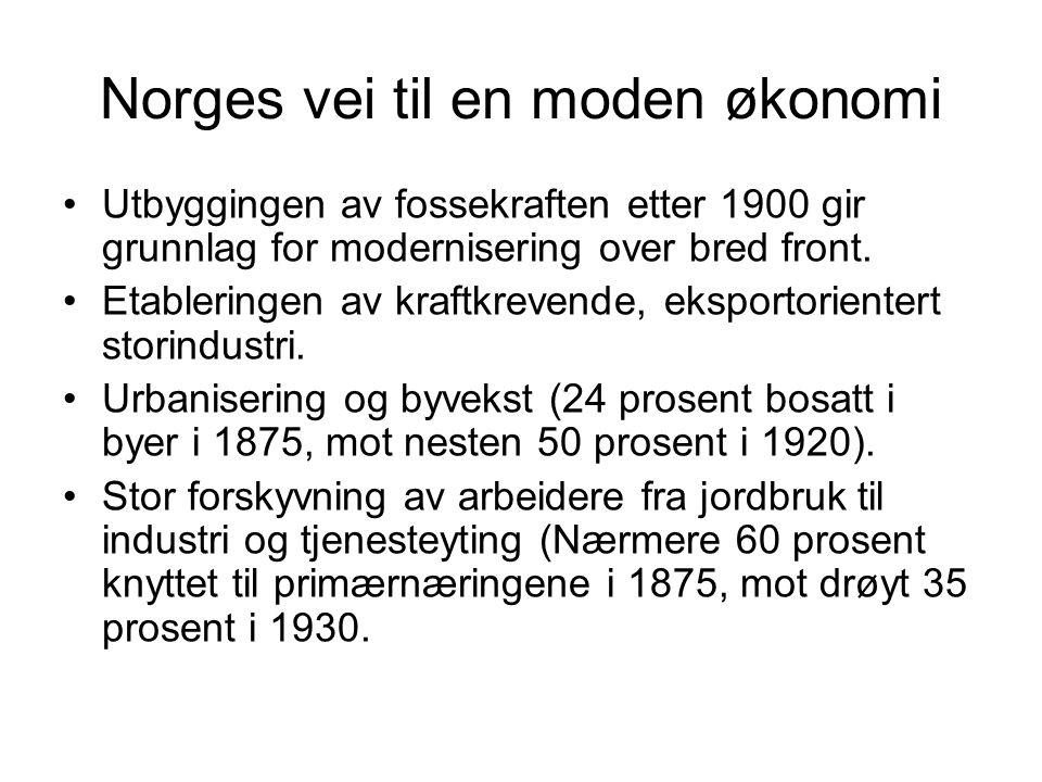 Norges vei til en moden økonomi